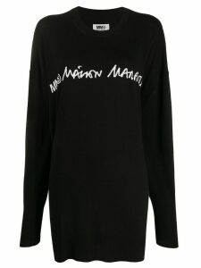 Mm6 Maison Margiela logo knitted jumper - Black