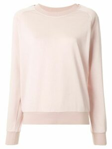 GOODIOUS side stripe boxy sweatshirt - PINK