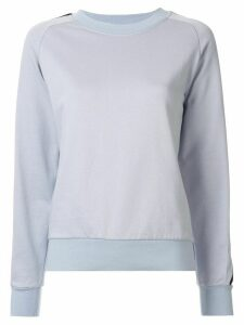 GOODIOUS side stripe boxy sweatshirt - Blue