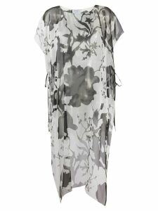 Salvatore Ferragamo printed long-line blouse - White