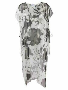Salvatore Ferragamo printed long-line blouse - White