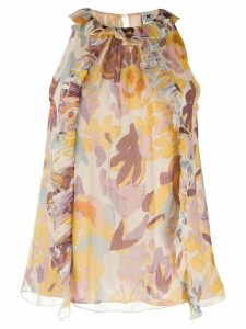 M Missoni floral print sleeveless blouse - Yellow