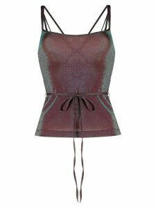 M Missoni metallic tie-waist top - PURPLE