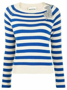 Semicouture striped slim-fit jumper - NEUTRALS
