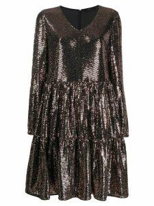 Steffen Schraut sequin embellished flared dress - Metallic