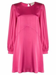 Semicouture long-sleeved mini dress - PINK