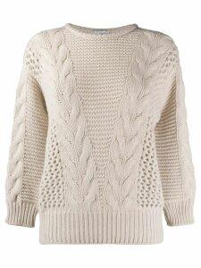 Agnona chunky-knit jumper - NEUTRALS