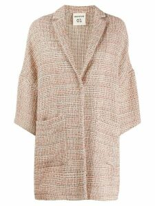 Semicouture tweed single-breasted coat - PINK