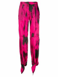Off-White high-waisted straight-leg trousers - PINK