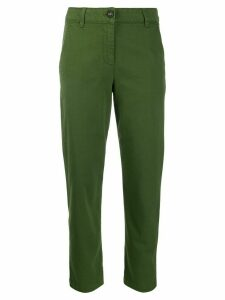 Semicouture cropped slim-fit trousers - Green