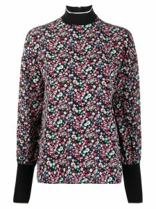 Essentiel Antwerp turtleneck floral-print top - Black