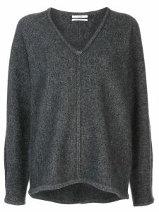 Co cashmere knit V-neck top - Grey