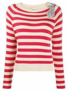 Semicouture striped slim-fit jumper - NEUTRALS