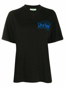 Aries Temple logo print T-shirt - Black
