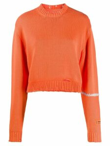 Heron Preston distressed knitted jumper - ORANGE