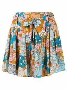Dodo Bar Or flared floral-print skirt - NEUTRALS