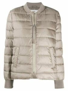 Closed fitted puffer jacket - NEUTRALS