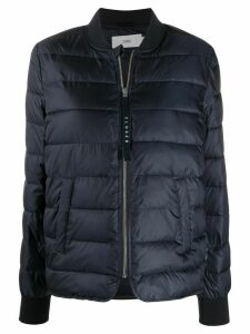 Closed padded short jacket - Blue
