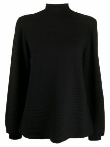 Emporio Armani funnel-neck long sleeve jumper - Black