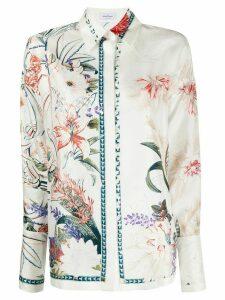 Salvatore Ferragamo floral-print shirt - White