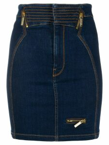 Versace Jeans Couture fitted denim skirt - Blue