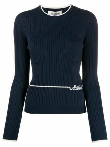 Valentino embroidered logo jumper - Blue