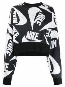 Nike oversized logo-print sweatshirt - Black