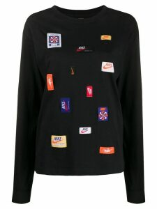 Nike multi-patch crew-neck sweatshirt - Black