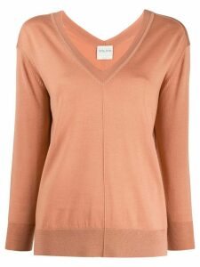 Forte Forte knitted V-neck long sleeve top - Brown