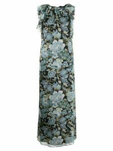 P.A.R.O.S.H. floral print maxi dress - Black