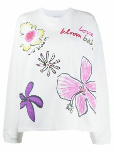 Mira Mikati embroidered sweatshirt - White