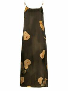 Uma Wang japanese print cami dress - Brown