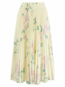 RedValentino floral print pleated skirt - Yellow