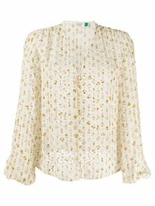 Rixo shell pattern blouse - White