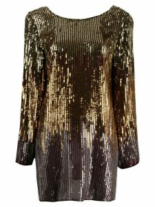 Rixo sequinned ombre short dress - GOLD