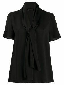 Emporio Armani tied neck blouse - Black