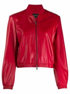 Emporio Armani short bomber jacket - Red