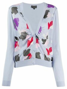 Emporio Armani abstract print cardigan - PURPLE