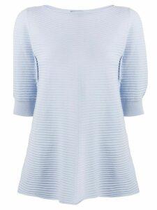 Emporio Armani striped knit top - Blue