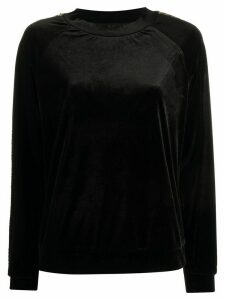 Emporio Armani sequin side panel sweatshirt - Black