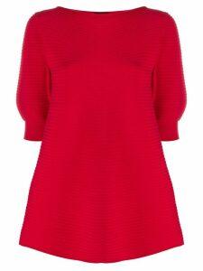 Emporio Armani striped knit top - Red