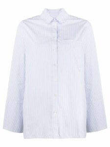 Essentiel Antwerp striped oversized shirt - White