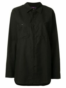 Y's oversized graphic print shirt - Black
