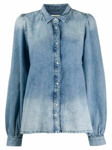 Essentiel Antwerp washed effect denim shirt - Blue