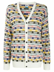 M Missoni striped intarsia cardigan - White