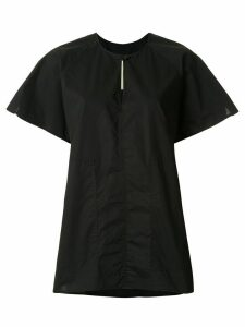 Lee Mathews short sleeve key-hole neck T-shirt - Black