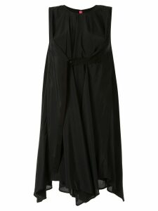 Y's long-line draped top - Black