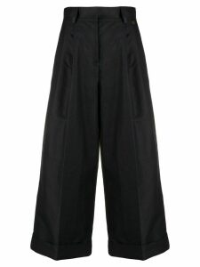 Twin-Set cropped wide-leg trousers - Blue