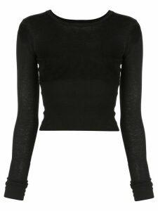 WARDROBE. NYC Release 05 long-sleeved T-shirt - Black