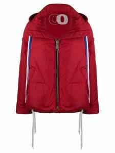 Khrisjoy contrasting drawstrings puffer jacket - Red